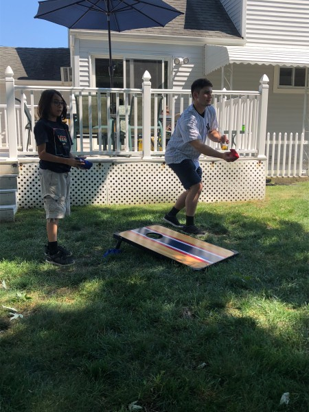 Corn Hole is a game you will always see at any family event when the weather permits!