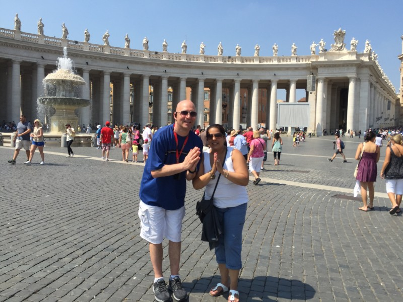 Praying at the Vatican!