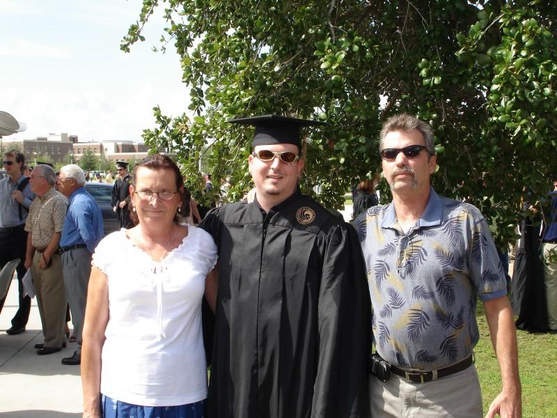 Corys graduation with parents