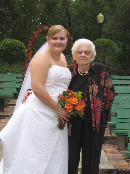 Jessica with grandmother