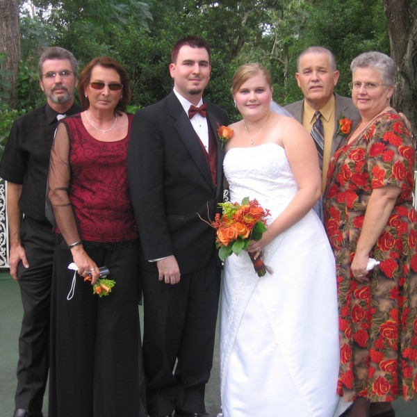 Wedding day with parents