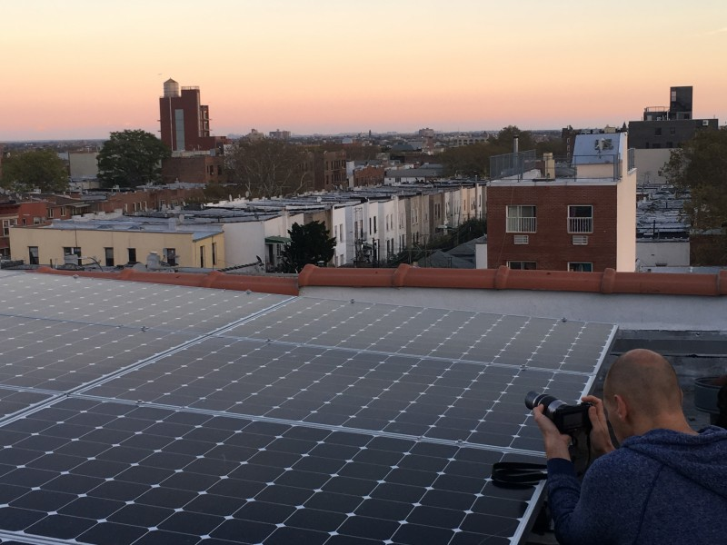 Our roofdeck has two things: the solar panels we installed and amazing sunsets