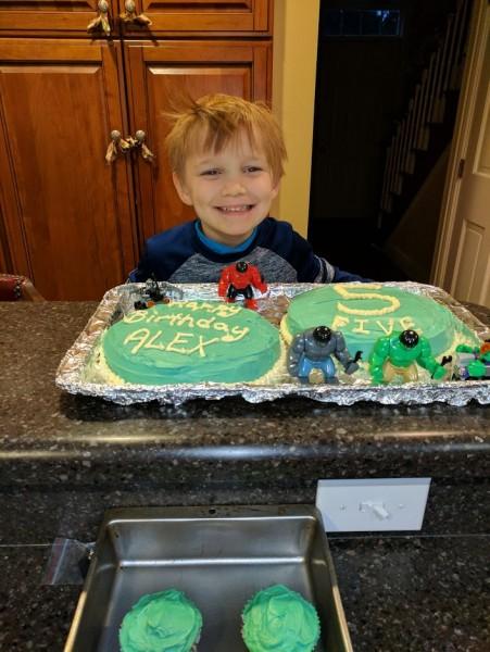 Hulk cake!
