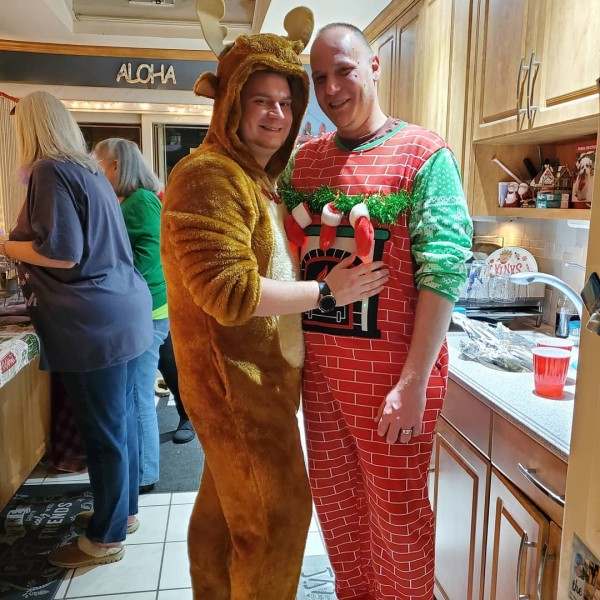 Justin and Joey feeling festive!