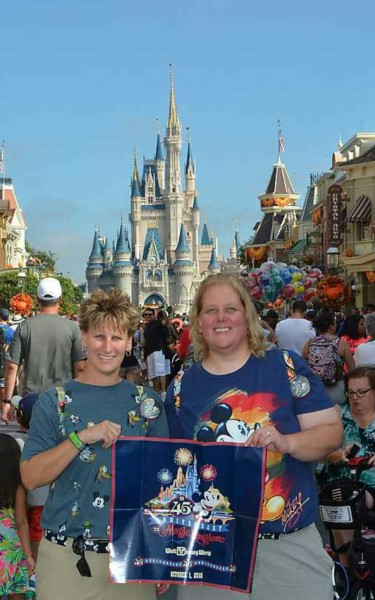 Adrienne and Corinne at the 45 Birthday of Magic Kingdom
