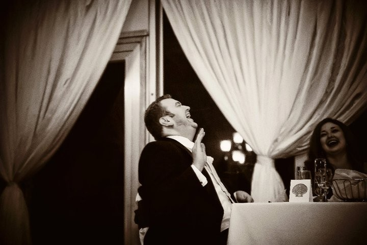Ryan laughing it up at his best friend, Brandon's, wedding (October 2010)