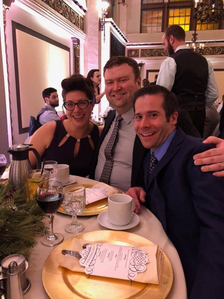 Paul's sister, Denise, with Ryan and Paul at Paul's brother, Adam's, wedding (January 2018)