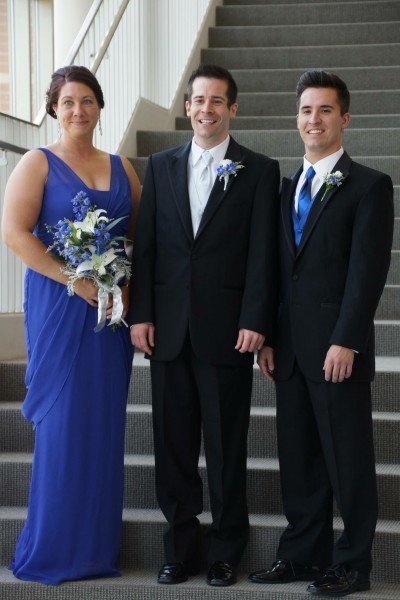 Paul with sister, Denise, and brother, Adam, on our wedding day (June 2013)