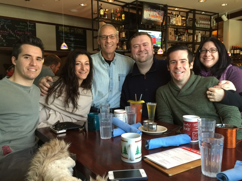 Celebrating the retirement of Paul's stepfather, Dan (January 2016)