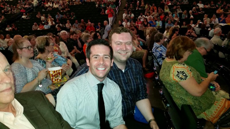 At Bette Midler's St. Paul concert (June 2015)