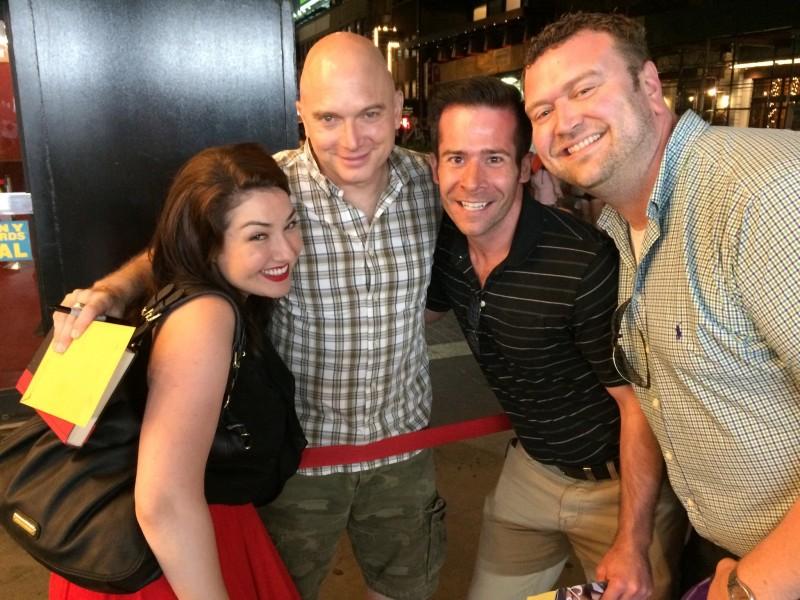 Meeting Broadway star Michael Cerveris with Ryan's best friend, Brandon (July 2015)