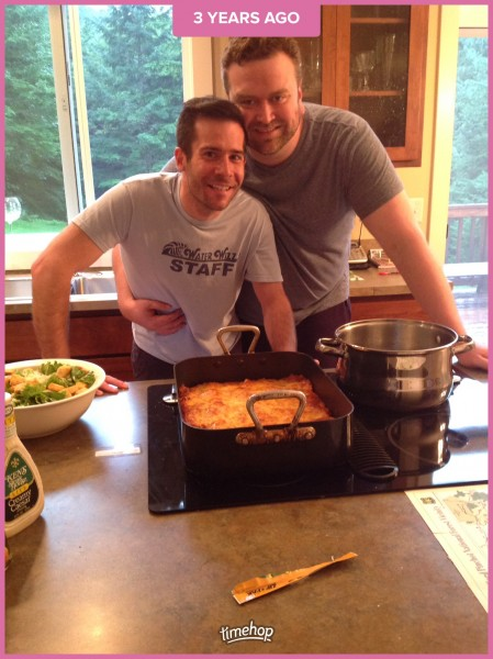 Paul made lasagna for the family (August 2014)