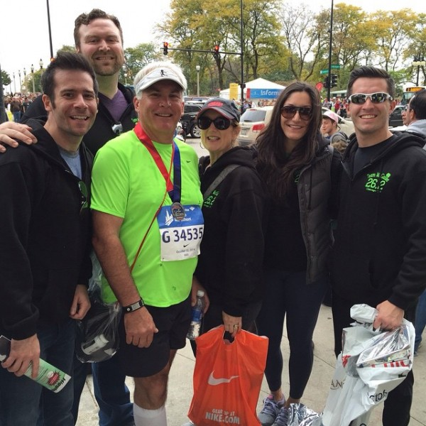 With Paul's dad, Joe, the day he ran the Chicago Marathon (October 2014)