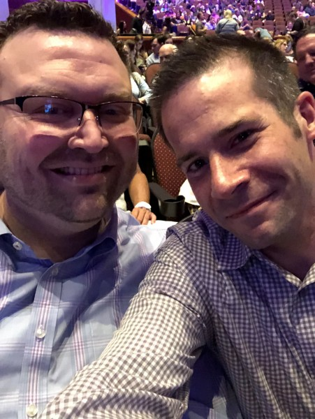 Ryan and Paul at Colin Jost's standup comedy show (June 2019)