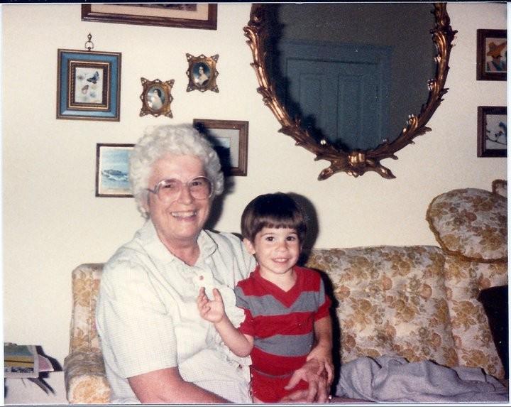 Paul with his Grandma Arlene