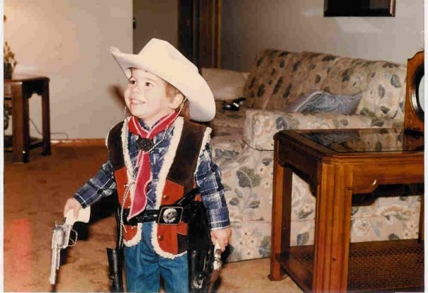 Paul as a little cowboy