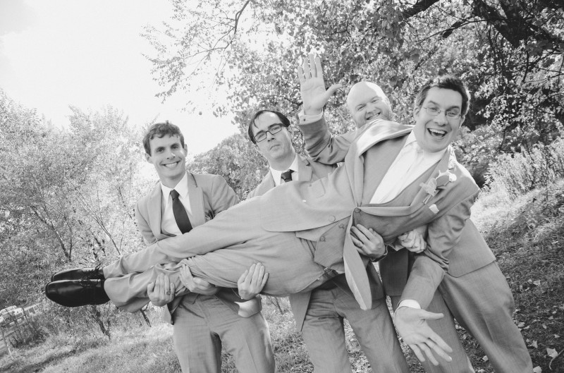 Here's Paul and his groomsmen being goofy