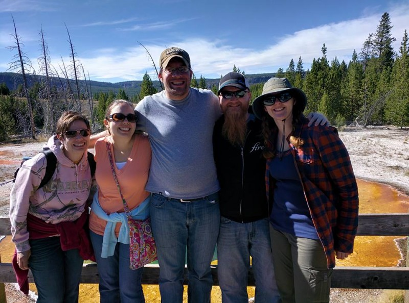 In 2015, we traveled to Yellowstone National Park with our camping crew!