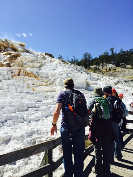 We had a great time exploring in Yellowstone, like this day trip to Mammoth Springs.