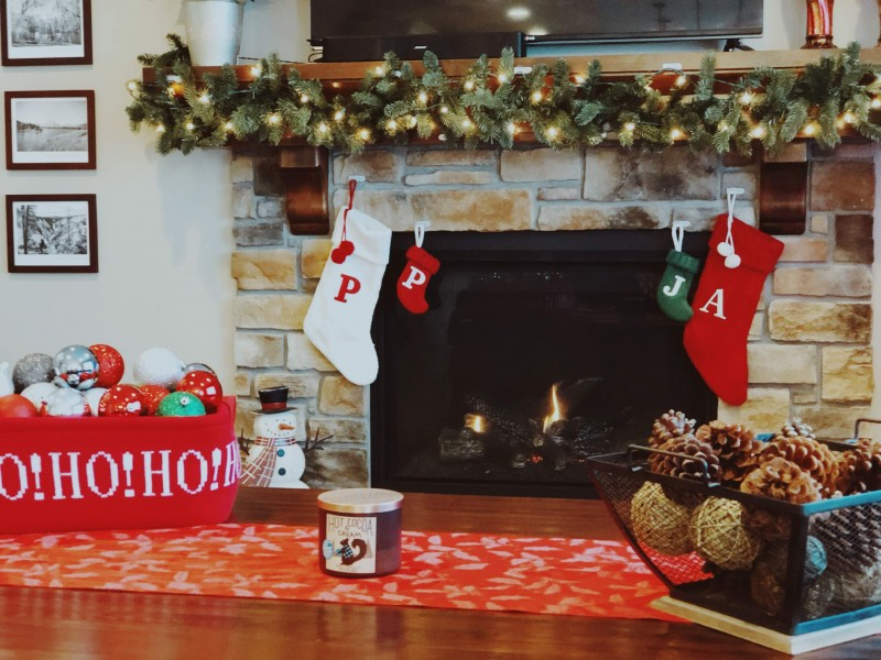 Annie loves decorating for Christmas - here's how the living room looked for Christmas 2018