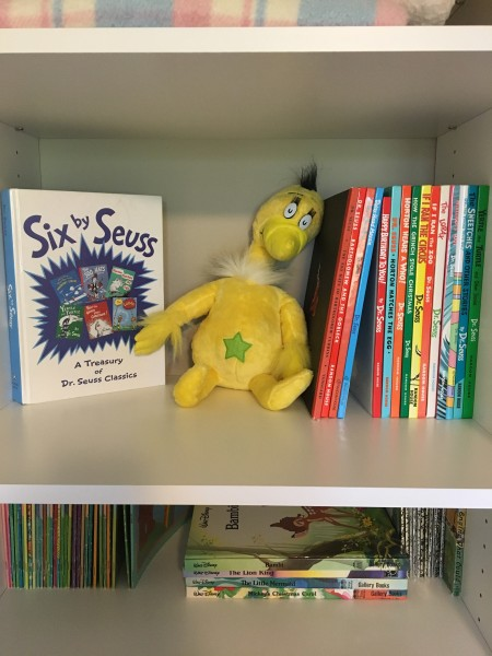 Our Dr. Seuss collection, complete with a plush Sneetch!
