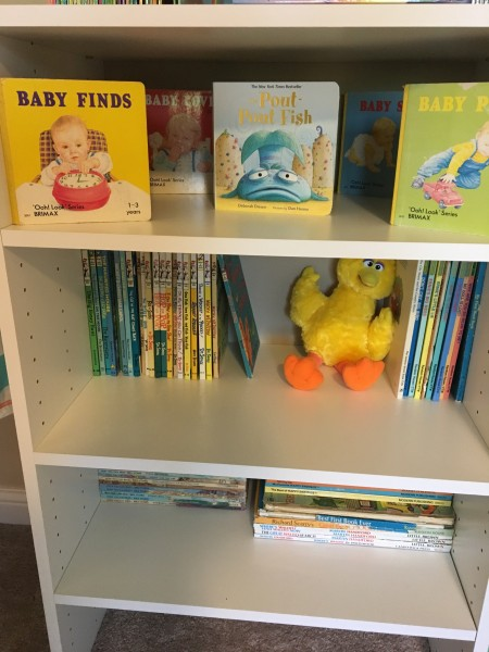 Some of our board books and Sesame Street books