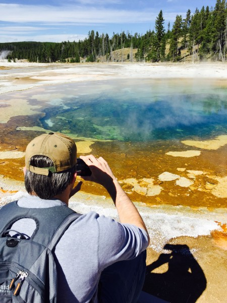 After seeing Old Faithful, we got to look at beautifully-colored sulfuric pools