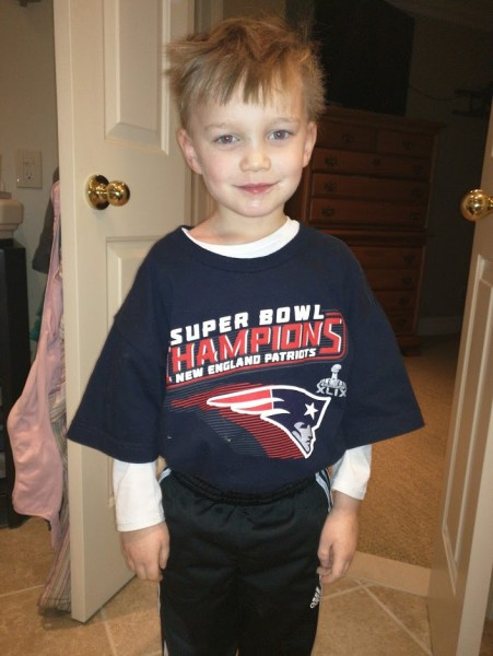 Alex likes patriots to tease daddy!