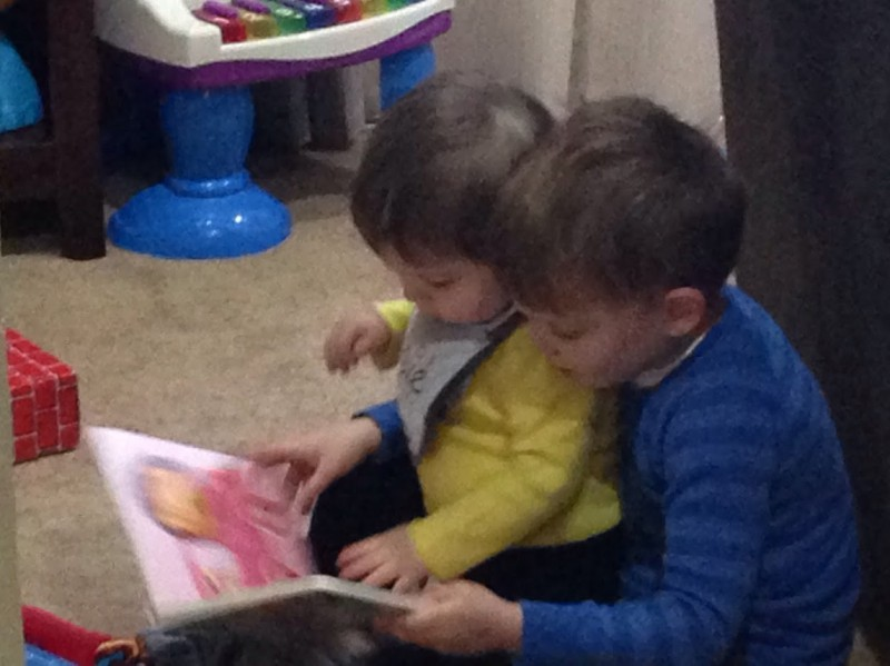 Reading to my little cousin