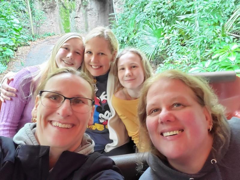 Family on a Safari