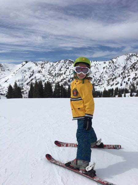 Buddy loves to ski!