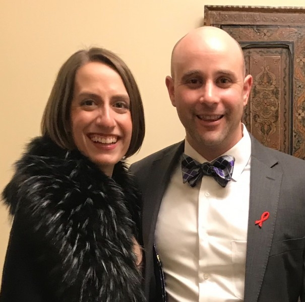 Dressed up for the Utah AIDS Foundation gala