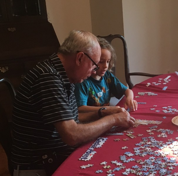 Puzzling with Grandpa