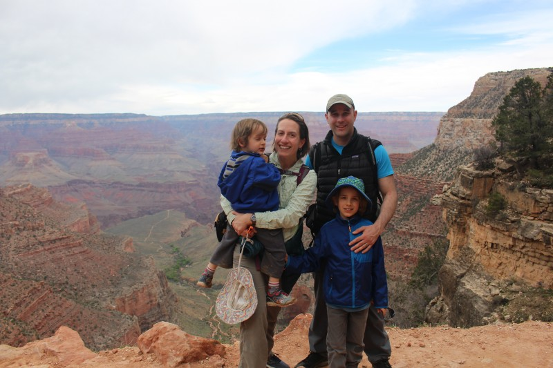 At the Grand Canyon for spring break
