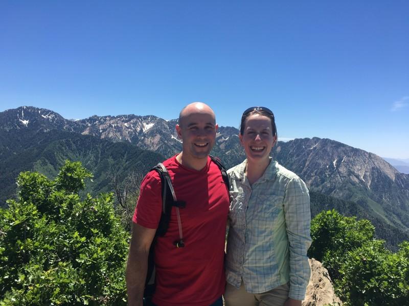 Hiking a peak overlooking Salt Lake