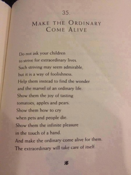 "From ""That Parent's Tao Te Ching"" by William Martin."