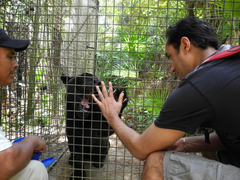 Neel visiting a zoo in Belize