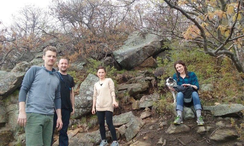 Hiking at Cold Spring with friends