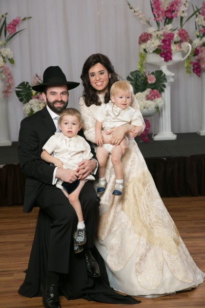 Levi Yitzchak and Chani Jundeff (Elisheva's sister) with their two boys