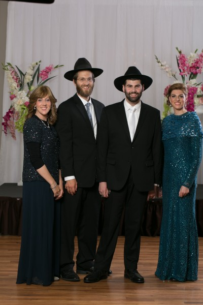 L-R Eliot's sister Sara Malka with her husband Shalom Tuvia, Eliot and his other sister Tamar