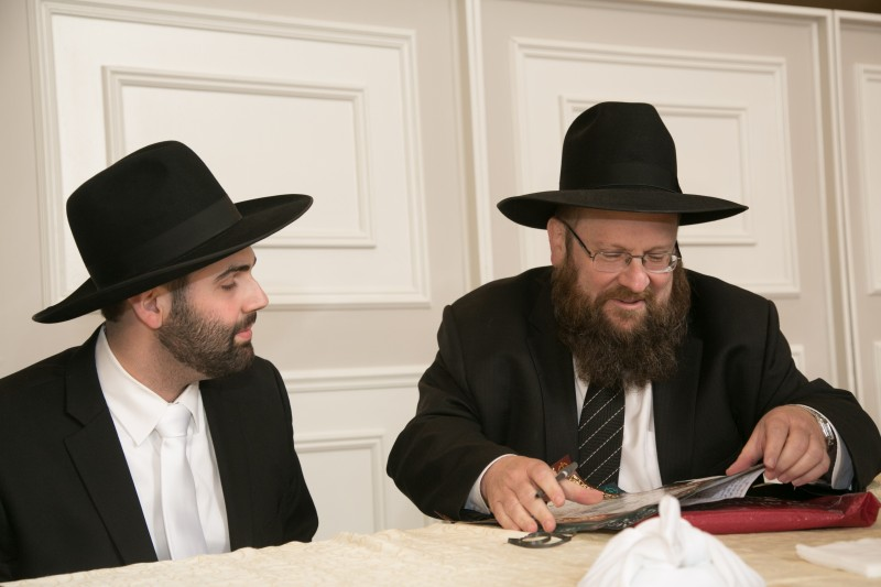 Eliot with his rabbi, Rabbi Katzenstein, Rosh Yeshiva of the Five towns