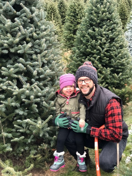 We love to make our own family traditions. One of those traditions is to pick out and cut our own Christmas tree.