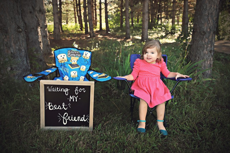 Charlotte can't wait to be a big sister!