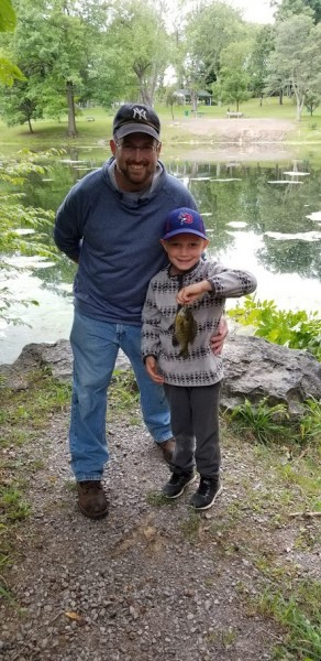 Daddy and Alex first fishing trip