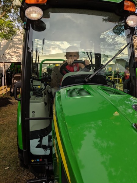 Checking out the big tractors