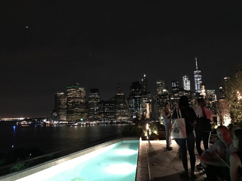 Dinner with friends, Manhattan at night