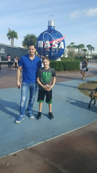 Andrey with his nephew visiting NASA