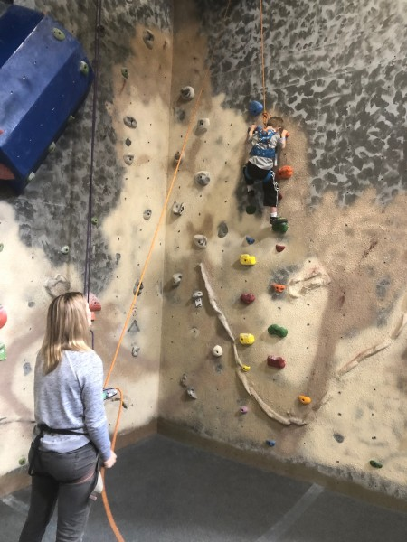 Trying new things...rock climbing