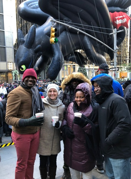 Thanksgiving Day Parade with Patrick's parents