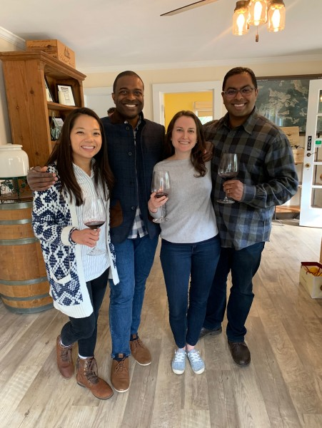 With friends from high school in Sonoma